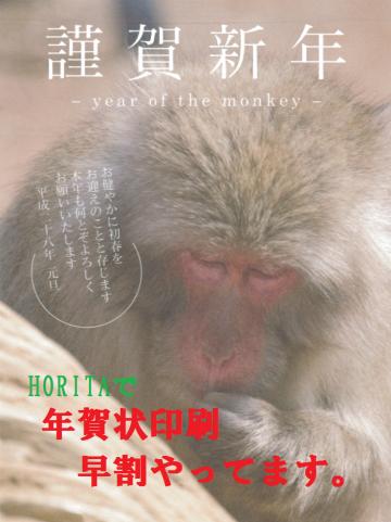 年賀状 猿