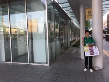 福井駅前でアンケート調査